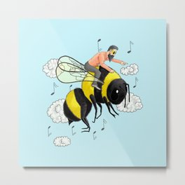 Flight of the Bumblebee by Nicolai Rimsky-Korsakov. Metal Print
