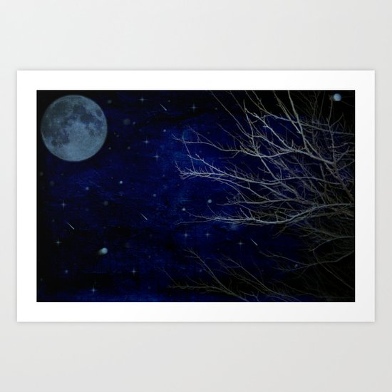 A Cold Winter Night Art Print