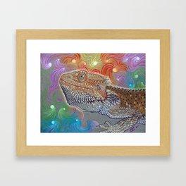 Cosmic Dragon, Bearded Dragon Art Framed Art Print