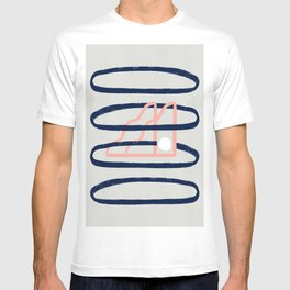 Minimal artwork with rings and stars T-shirt