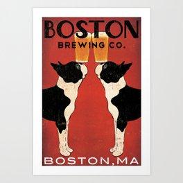 Boston Terrier Brewing Company Art Print