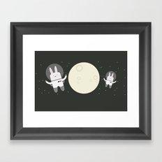 Astro Bunnies Framed Art Print