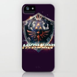 Yeah she sees my Hyrulin' - 80's Legend of Zelda Shield iPhone Case