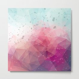 Abstract polygonal colourful background Metal Print