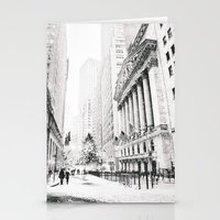 new york city Stationery Cards featuring New York City Christmas by Vivienne Gucwa