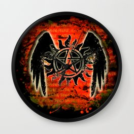 Saving People, Hunting Things Wall Clock
