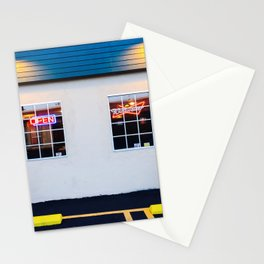 windows of the bar and restaurant in Los Angeles, USA Stationery Cards