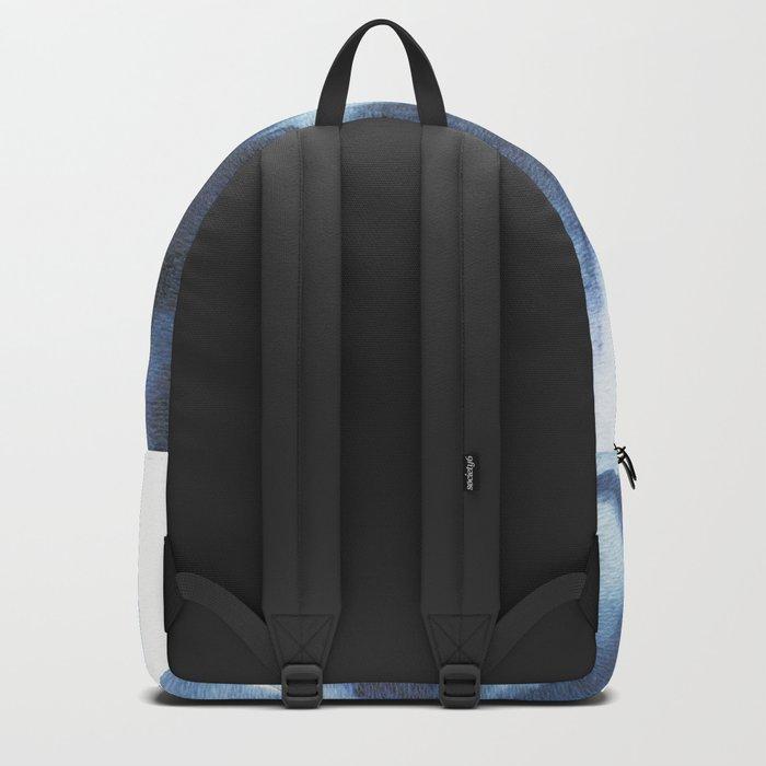 Indigo watercolor 2 Backpack