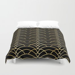 Art Deco Series - Black & Gold Duvet Cover