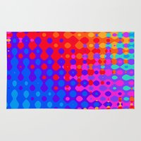 hippy Area & Throw Rugs featuring Hippy Trippy Pattern by Kirsten Star