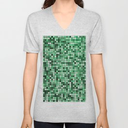 Green Sequins Unisex V-Neck