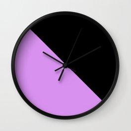 Light Purple and Black Wall Clock
