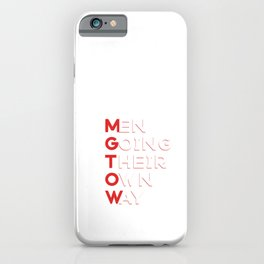 MGTOW - Men Going Their Own Way iPhone Case