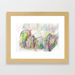 Vegetal color chaos Framed Art Print