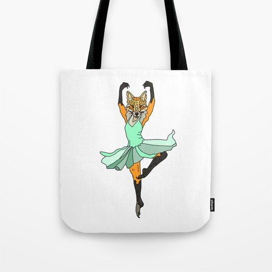 Fox Ballerina Tutu Tote Bag