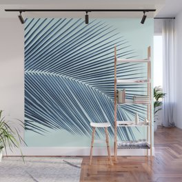 Palm leaf - oceanic Wall Mural