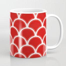 Large scallops in fabulous fiesta red Coffee Mug