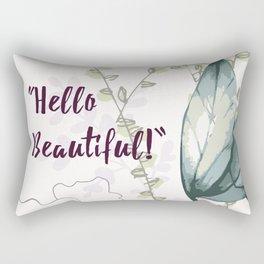 Hello Beautiful Art work Rectangular Pillow