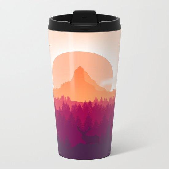 Wildlife Forest Metal Travel Mug