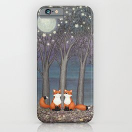 dreamy foxes iPhone Case