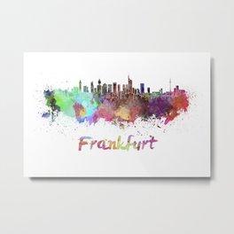 Frankfurt skyline in watercolor Metal Print