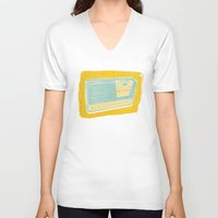 transistor V-neck T-shirts featuring Radio II by Brooke Elizabeth