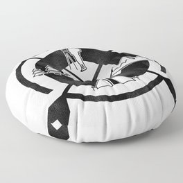 Camping Outdoor Activity Funny Floor Pillow