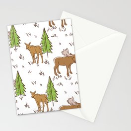 Moose Meadow Pattern Decoration Stationery Cards
