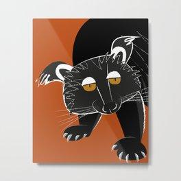 Black bear cat Metal Print