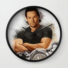 Mark Wahlberg Portrait Wall Clock