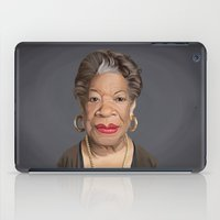 celebrity iPad Cases featuring Celebrity Sunday ~ Maya Angelou by rob art | illustration