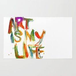 Art is my life Rug