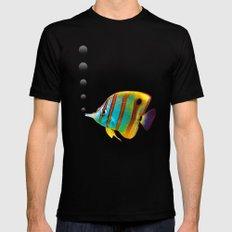 Fish Mens Fitted Tee MEDIUM Black