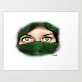 Pika boo Art Print