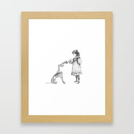 "Brix and Bailey ""Put Em Up"" Framed Art Print"