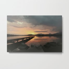 abendstimmung coastal evening Metal Print