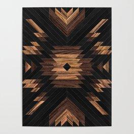 Urban Tribal Pattern No.7 - Aztec - Wood Poster