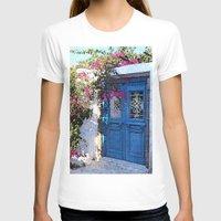 doors T-shirts featuring Santorini Doors by Brian Raggatt