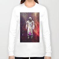 interstellar Long Sleeve T-shirts featuring Interstellar by Tony Vazquez