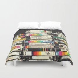 VHS Stack Duvet Cover