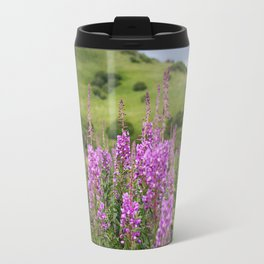 Fireweed on a Mountain Photography Print Travel Mug