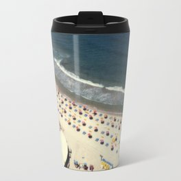 Tel-Aviv beach at summer, high from above, Israel, scaned sx-70 Polaroid Travel Mug
