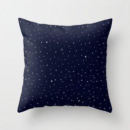 Star-field - Dark Blue Throw Pillow