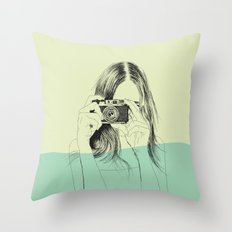 Woman Color 11 Throw Pillow