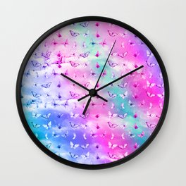 Butterfly Clouds Wall Clock