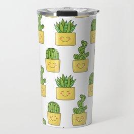 Cactus love pattern Travel Mug