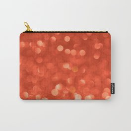 Red abstract background with bokeh defocused lights Carry-All Pouch