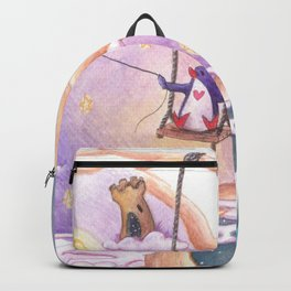 Penguins Dream and Desire and Very Different Worlds Backpack