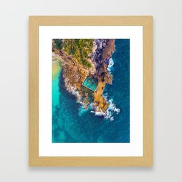 Global Peninsula View (Color) Framed Art Print