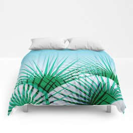 Airhead - memphis throwback retro vintage ombre blue palm springs socal california dreamer pop art Comforters